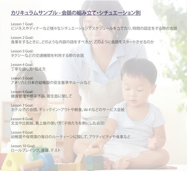 幼児教育英語カリキュラム